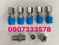Bộ nối ren 13 ống 8ly inox - nối thẳng ren  13 ống 8 ly inox 316