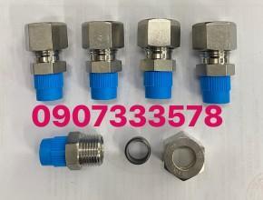 Nối ren 13 ống 12 inox - nối thẳng một đầu ren 13 một đầu ống 12 ly bằng inox