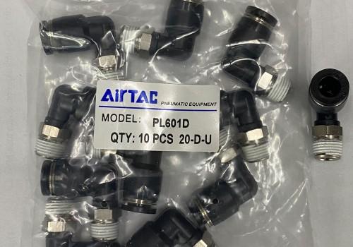 """Co nối hiệu airtac - nối hơi cong  phi 6 ren 9""""6 của airtac"""